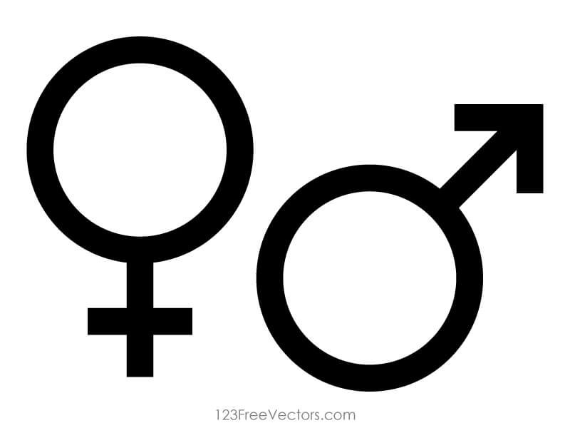Male and Female Icons Illustration.