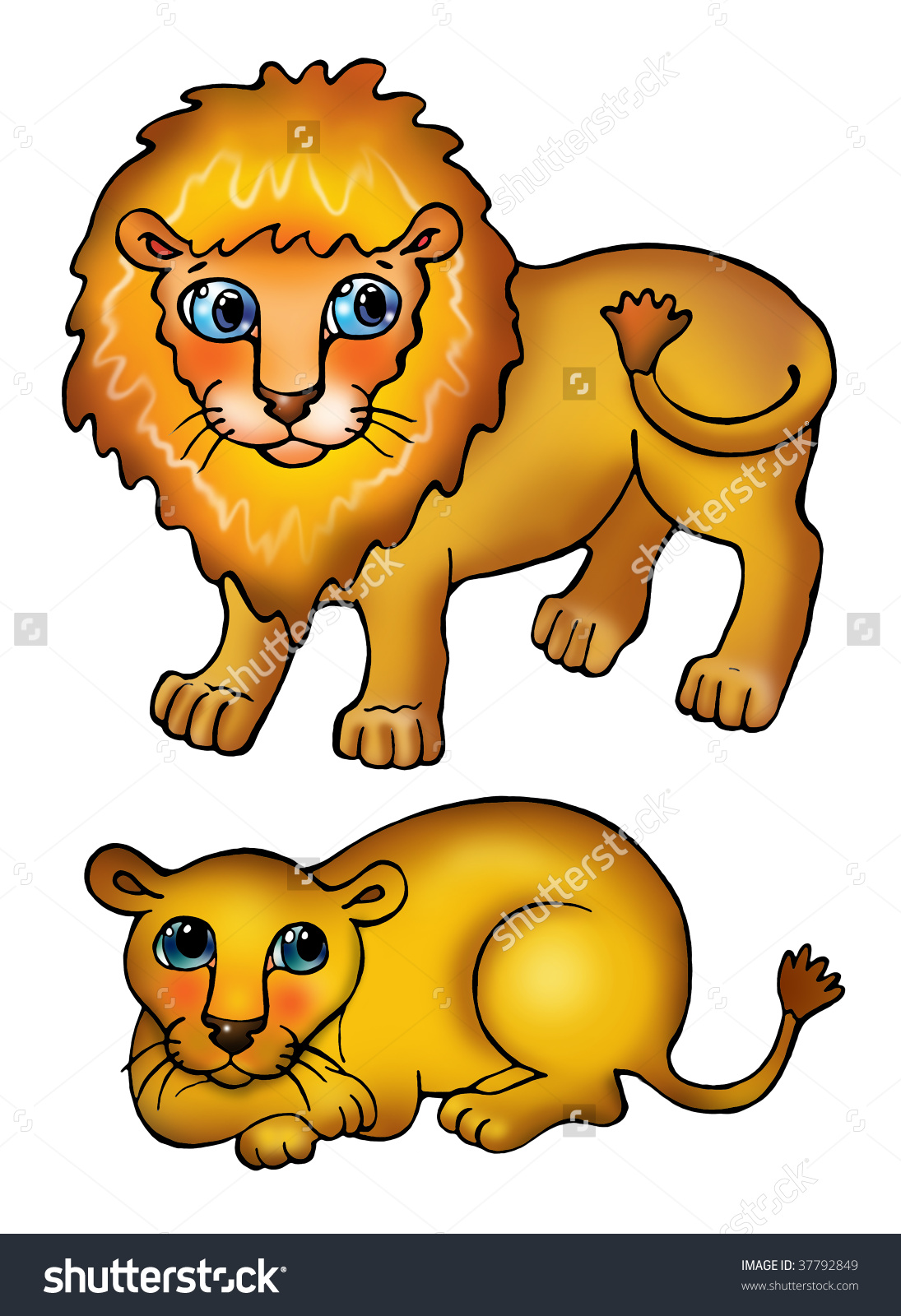 Showing post & media for Male and female lion cartoon.