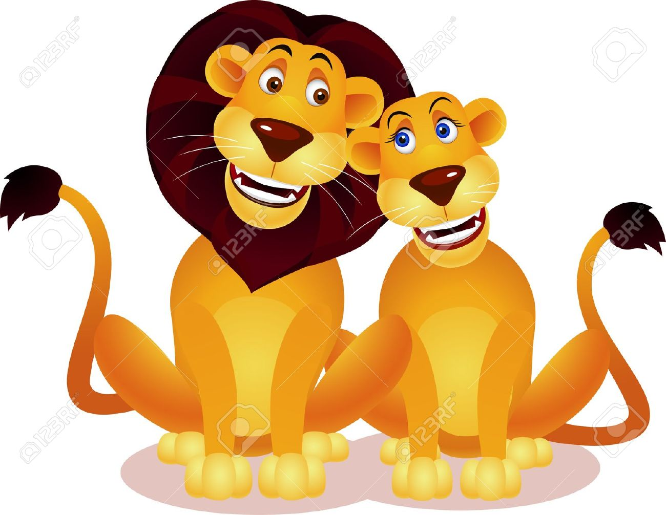 Lion Couple Royalty Free Cliparts, Vectors, And Stock Illustration.