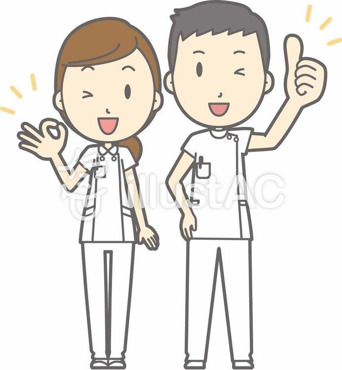Nurse male and female.