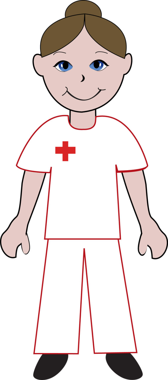 Male And Female Nurse Clipart.