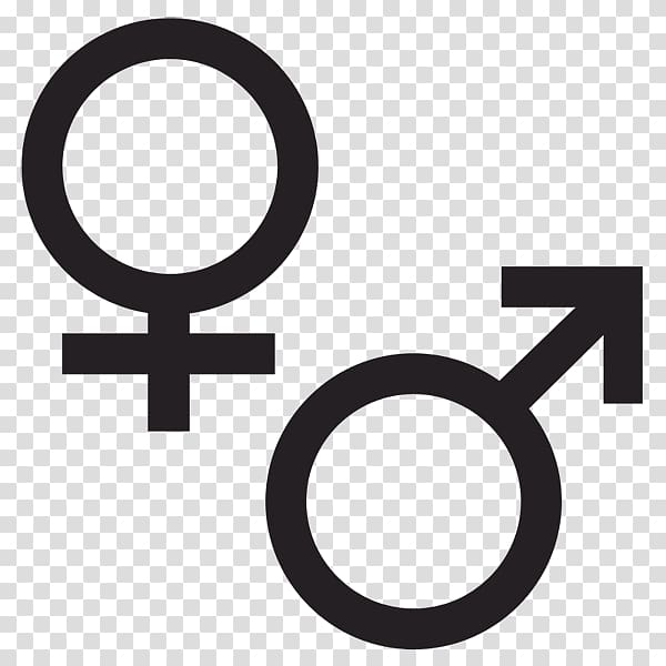 Genders logo, Gender symbol Female , Male Female transparent.