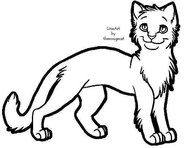 Warrior cat clipart.