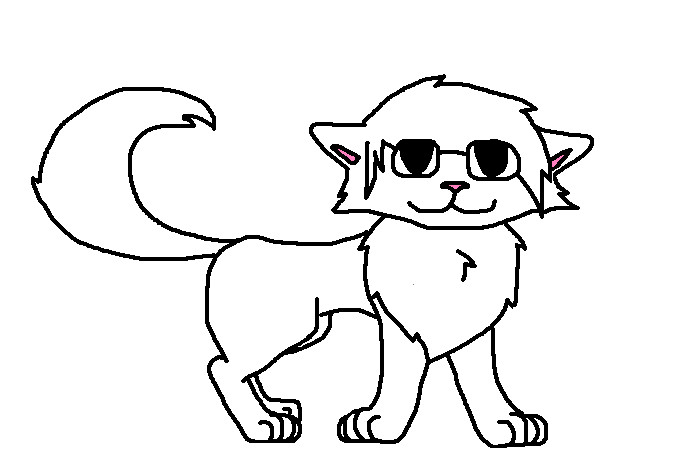 Male Cat Outline FREE.