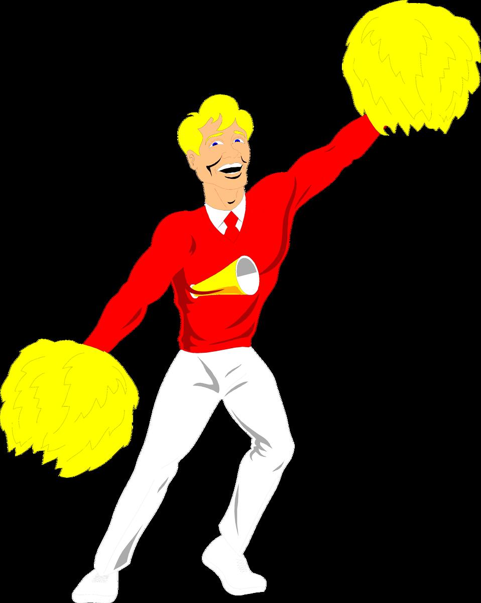 Male Cheerleader Clipart.