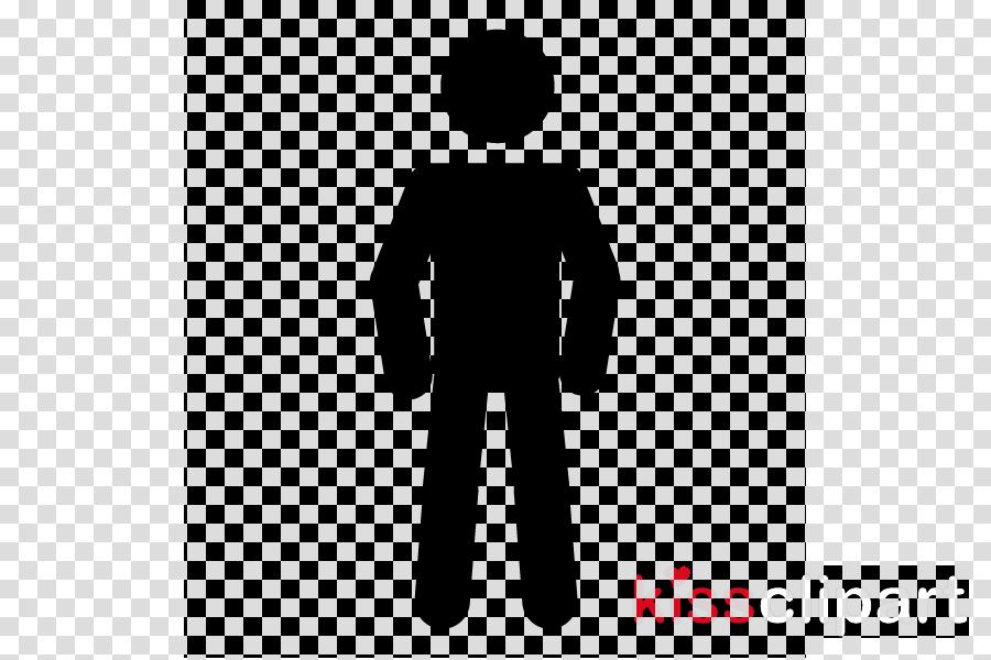 standing male clip art silhouette line clipart.