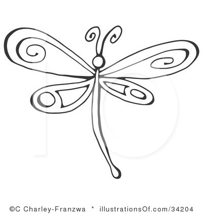 Male dragonfly clipart - Clipground