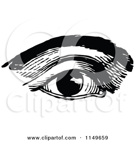 Clipart Vintage Black And White Male Human Eye.