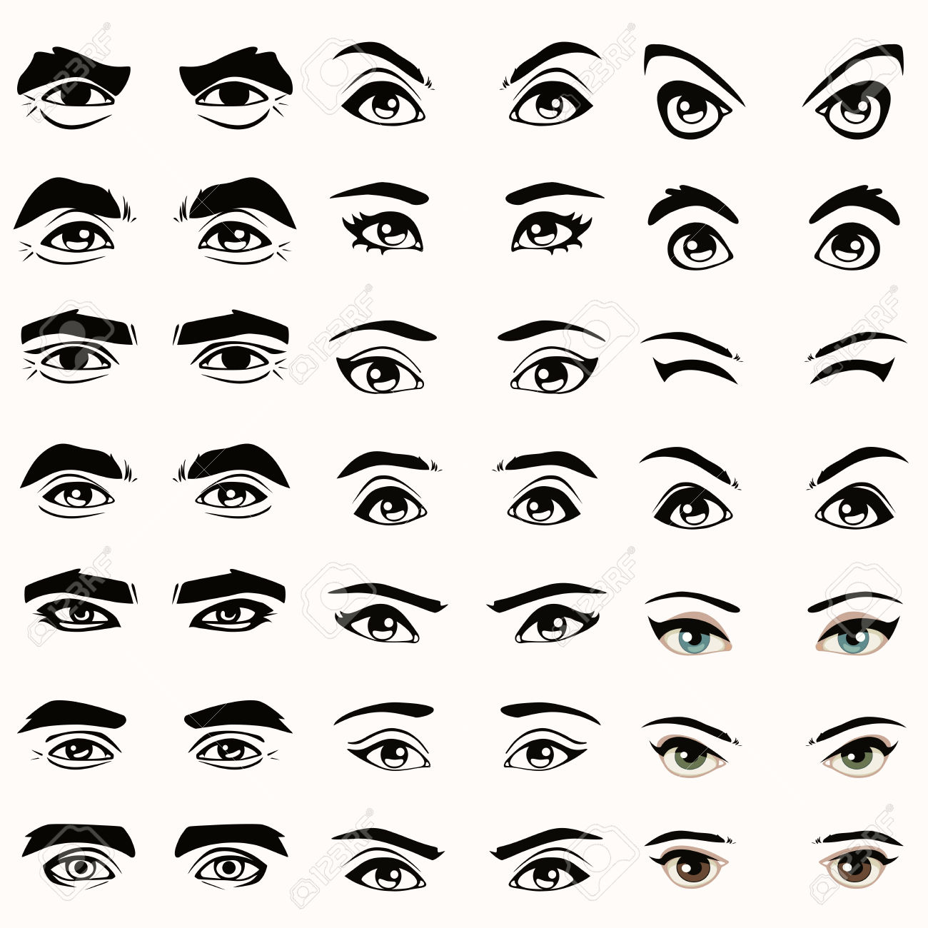Showing post & media for Cartoon eyes silhouette.