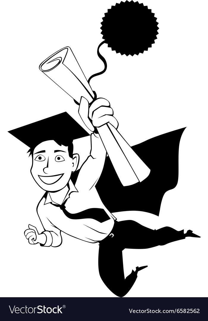 Male graduate clipart.