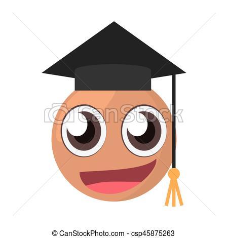 emoticon male graduate expression.