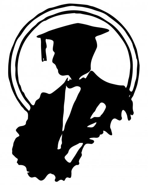 Male Graduate Silhouette Clipart Free Stock Photo.