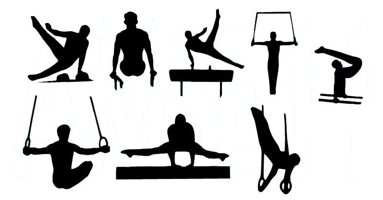 male gymnast clipart #5