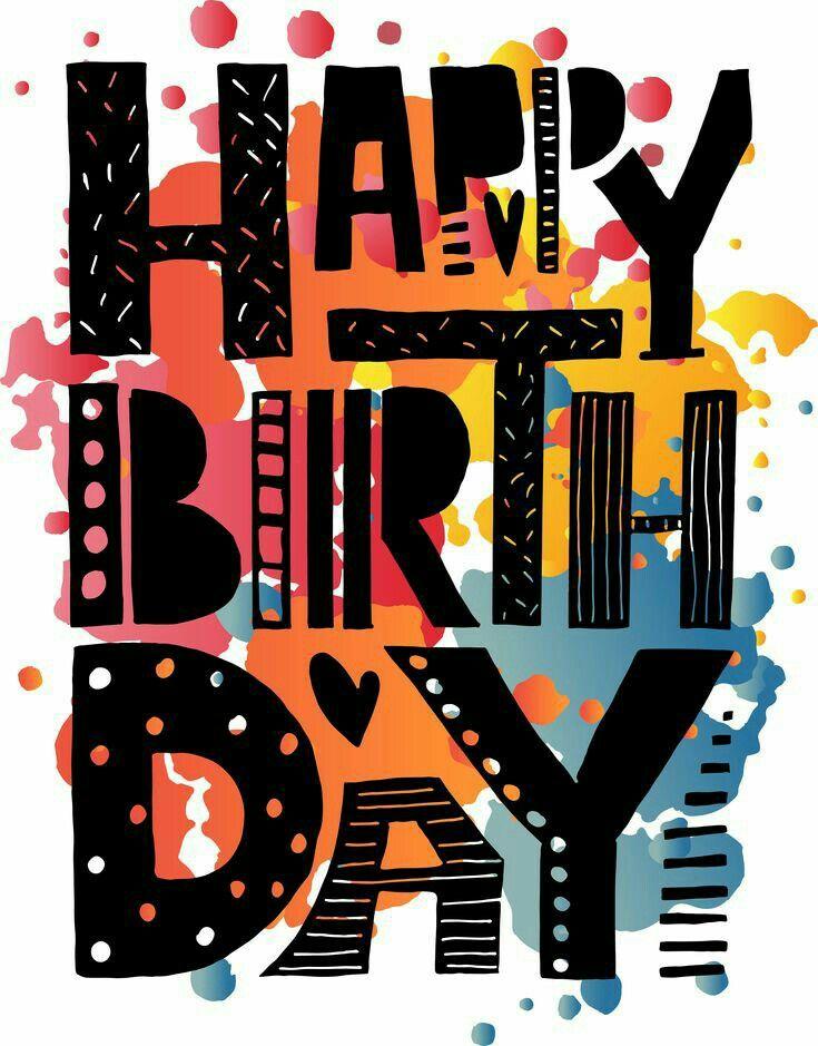 Happy Birthday . black . o.k. for man.