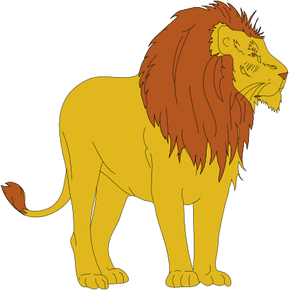 Free Male Lion Clip Art.