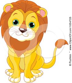 cartoon male lion clip art.