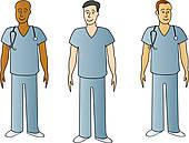 Male nurse Clipart Illustrations. 2,343 male nurse clip art vector.