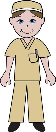 Male Nurse Clip Art.