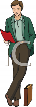 Male Science Teacher Clipart.