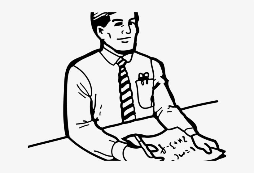 Secretary Clipart Male Secretary PNG Image.