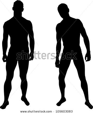 Man Silhouette Stock Images, Royalty.