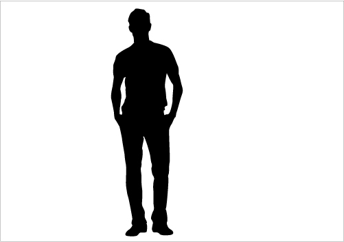 Standing Man Silhouette Graphics Silhouette Graphics.