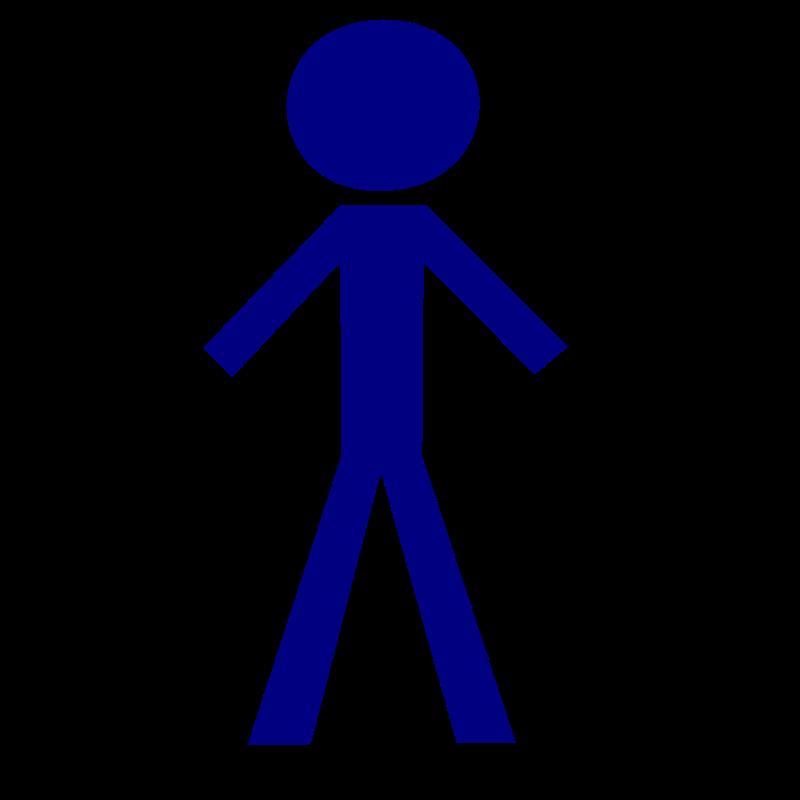 Free Clipart: Stick figure: male.