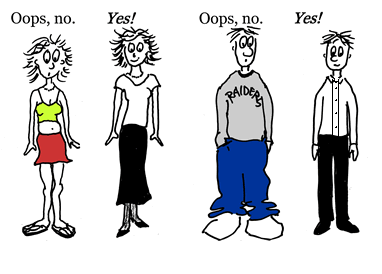 Male Student Dress Code Clipart.