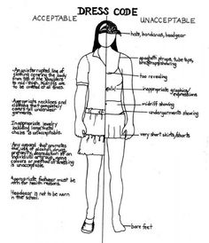 Student Dress Code Clipart.