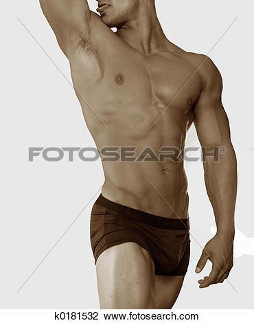 Stock Photo of male torso k0181532.