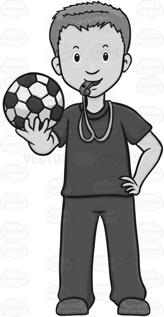 Soccer Coach Looking Ready To Train A Team.
