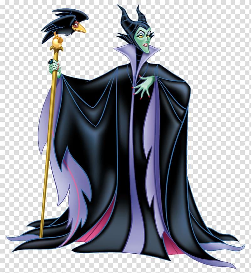 Maleficent holding rod with bird illustration, Maleficent.