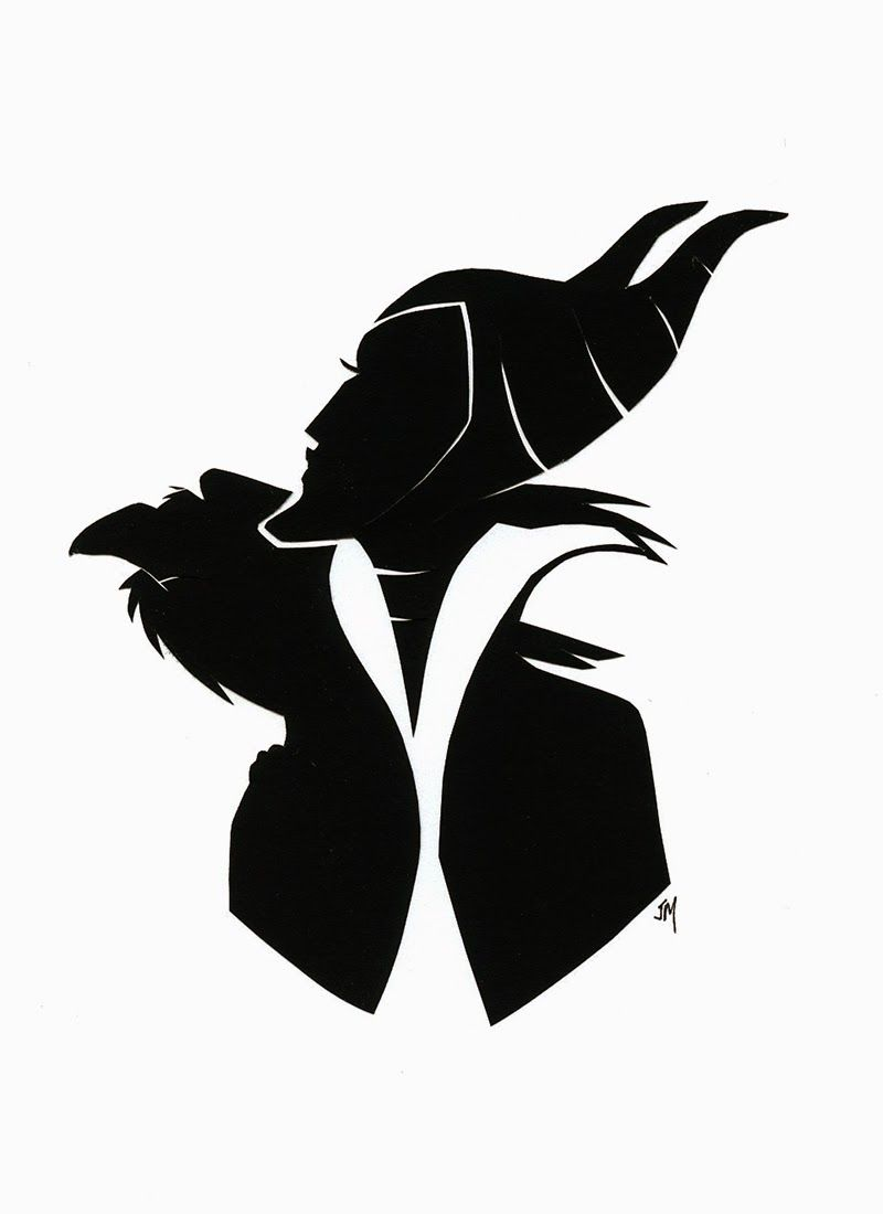 maleficent silhouette.