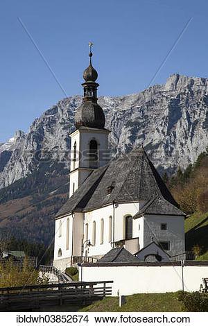 "Stock Photo of ""Parish Church of St. Sebastian, Reiter Alpe."