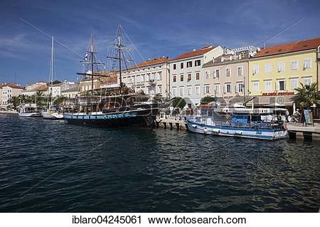 Stock Photography of Port of Mali Losinj, Losinj, Cres Iceland.