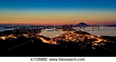 Stock Photo of Mali Losinj, Croatia panoramic view k7105892.