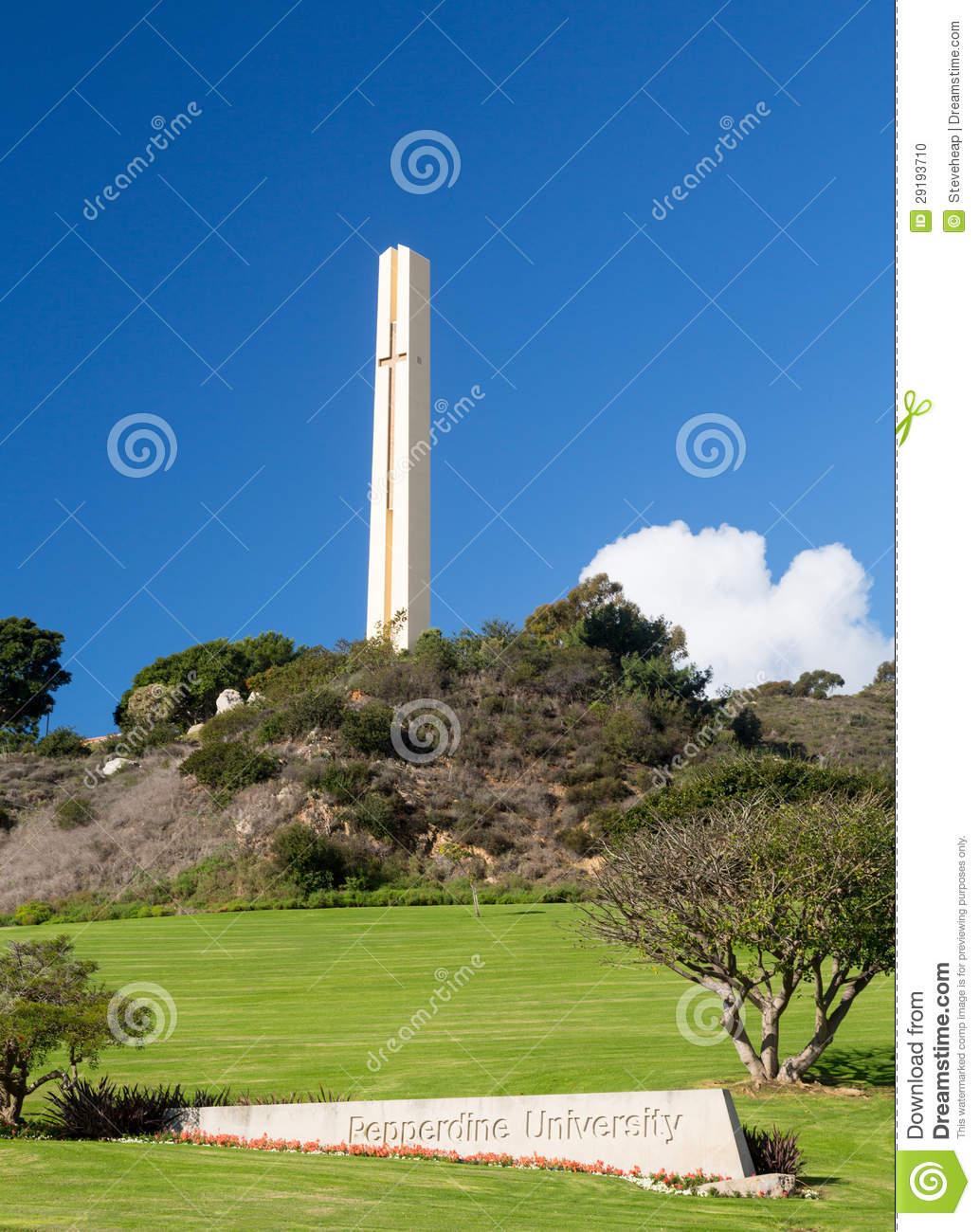 Phillips Theme Tower At Pepperdine University Editorial Image.