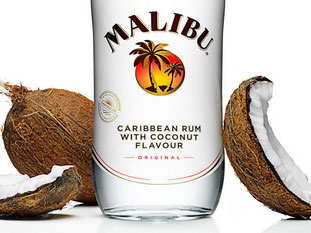 Products and ingredients: Malibu rum.