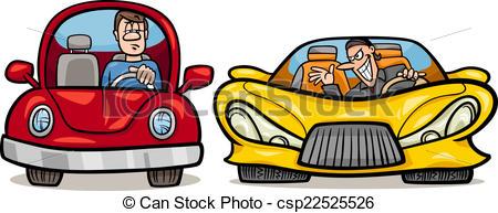 Vector Illustration of malicious driver cartoon illustration.
