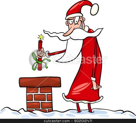 santa claus cartoon christmas illustration stock vector.