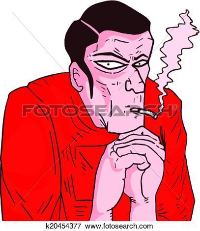 Clip Art of Bad man k20454377.