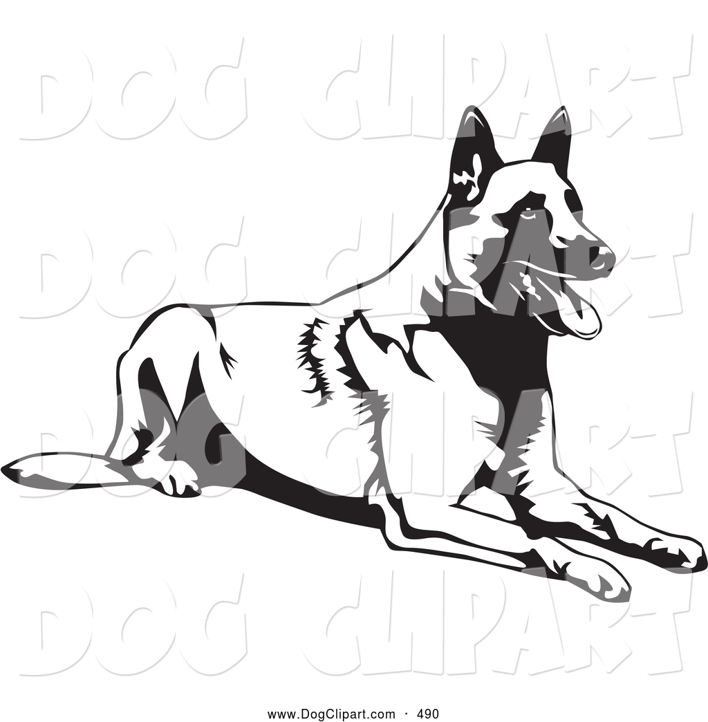 Royalty Free Stock Dog Designs of Malinois.