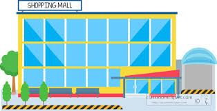 Image result for shopping mall building clipart.