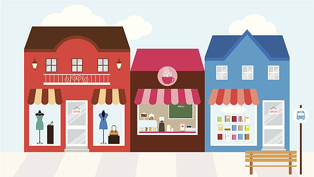 Strip Mall Clip Art, Vector Images & Illustrations.