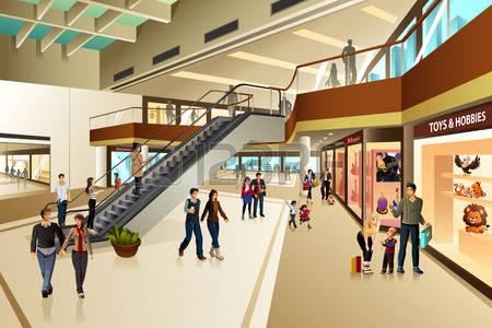 mall hallway clipart clipground
