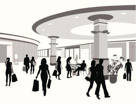Free Shopping Mall Clipart Black And White, Download Free.