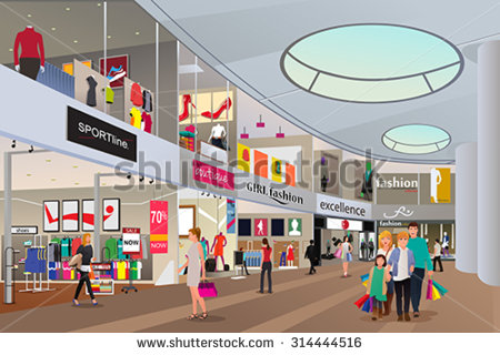 Shopping Mall Stock Images, Royalty.