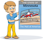 Fifty States: Minnesota Clipart.