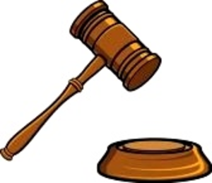 Judge mallet clipart.