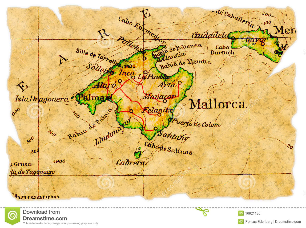Mallorca Map Stock Photos, Images, & Pictures.